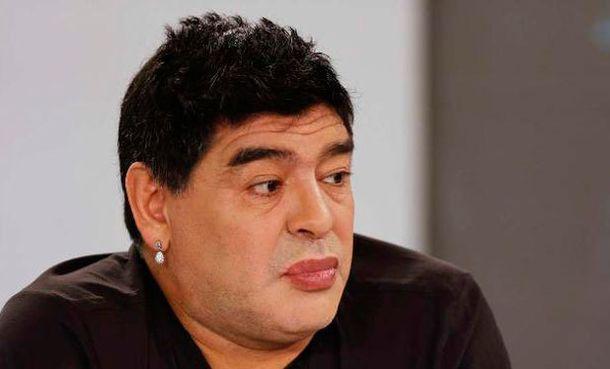 Foto: Imagen de Maradona este fin de semana en el programa 'De zurda'