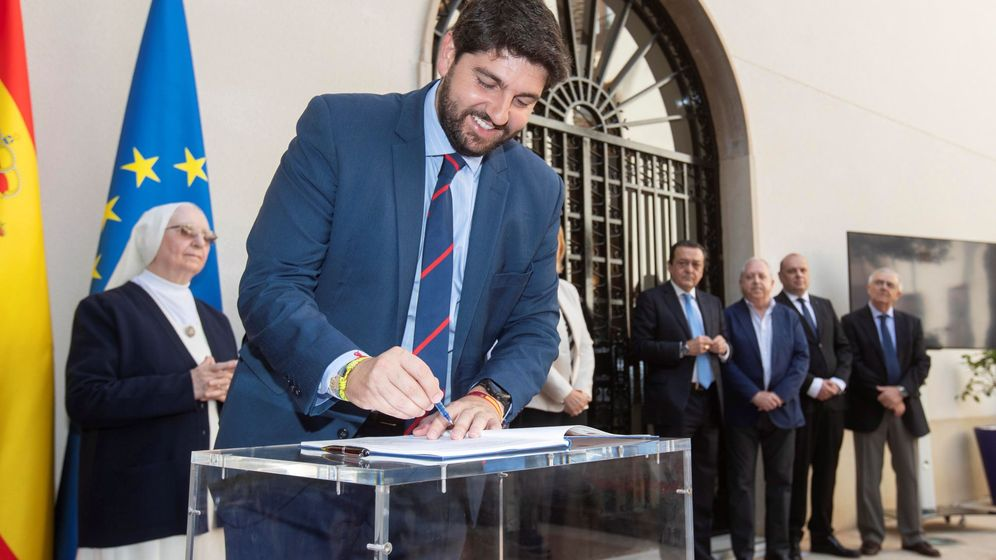 Foto: El presidente en funciones de la Región de Murcia Fernando López. (EFE)