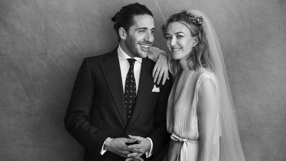 Foto:  La pareja, en la foto oficial.