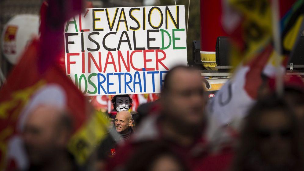 Foto: Manifestación en contra de la reforma de las pensiones en 2013 en París, Francia. (EFE)