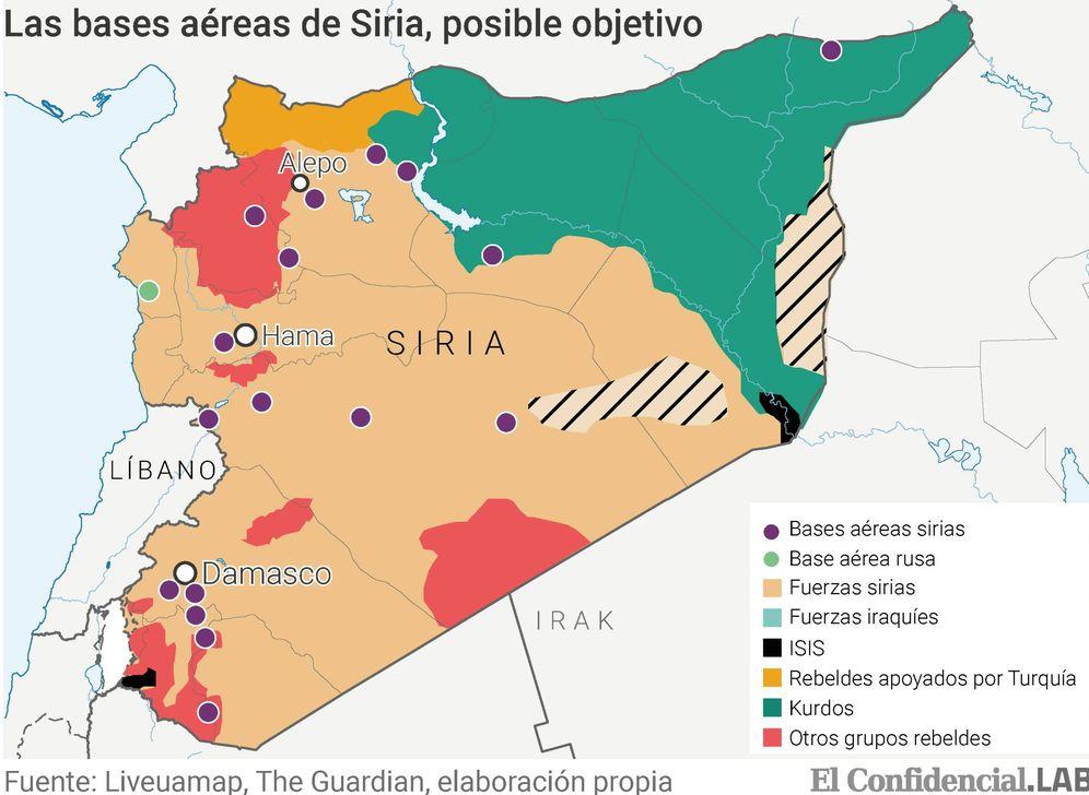 siria mapa Guerra en Siria: Trump, a punto de atacar Siria pese a Rusia  siria mapa