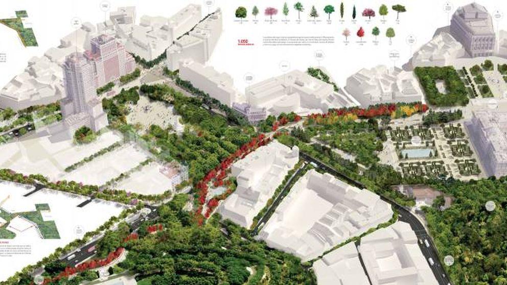 Así son los dos proyectos finalistas para la remodelación de Plaza España