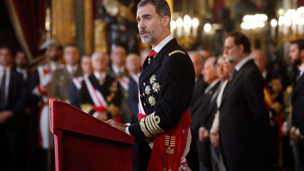 Foto: Felipe VI durante su discurso en la Pascua Militar. (EFE)