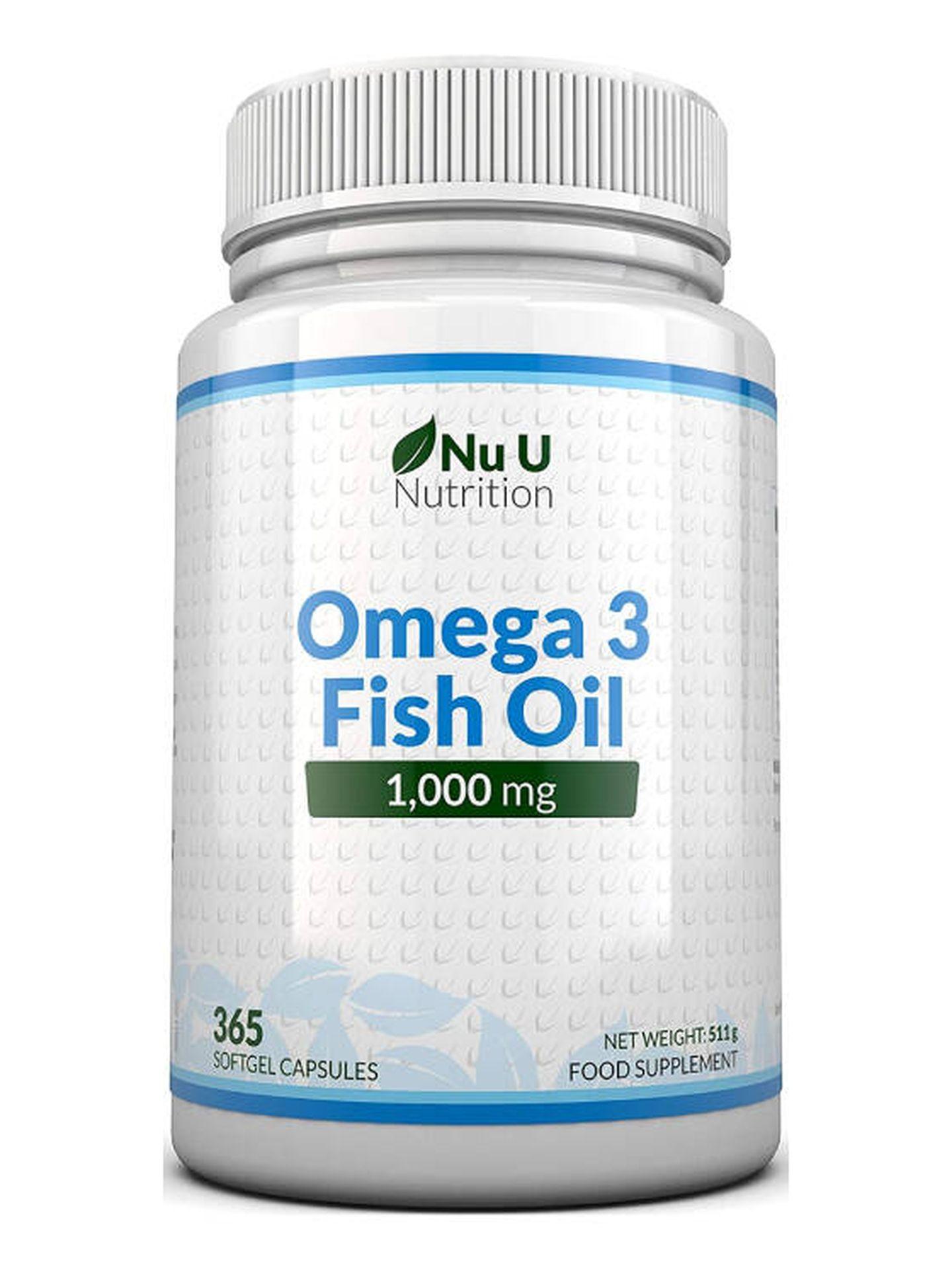 Omega 3 de Nu U a la venta en Amazon. (Cortesía)