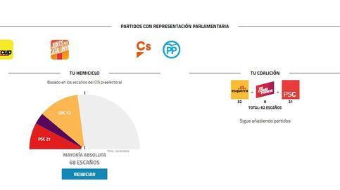 ¿Cuáles son las combinaciones posibles para formar gobierno en Cataluña?