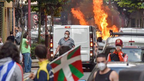 Cinco detenidos y dos heridos en los altercados por un mitin de Vox en Barakaldo