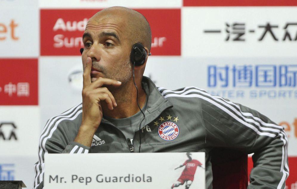 Foto: Guardiola durante una rueda de prensa en China (Efe).