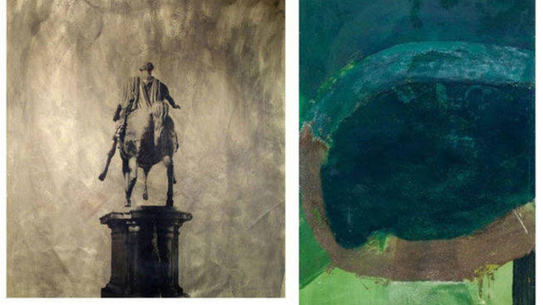 Las obras que Corinna tiene en sus paredes.