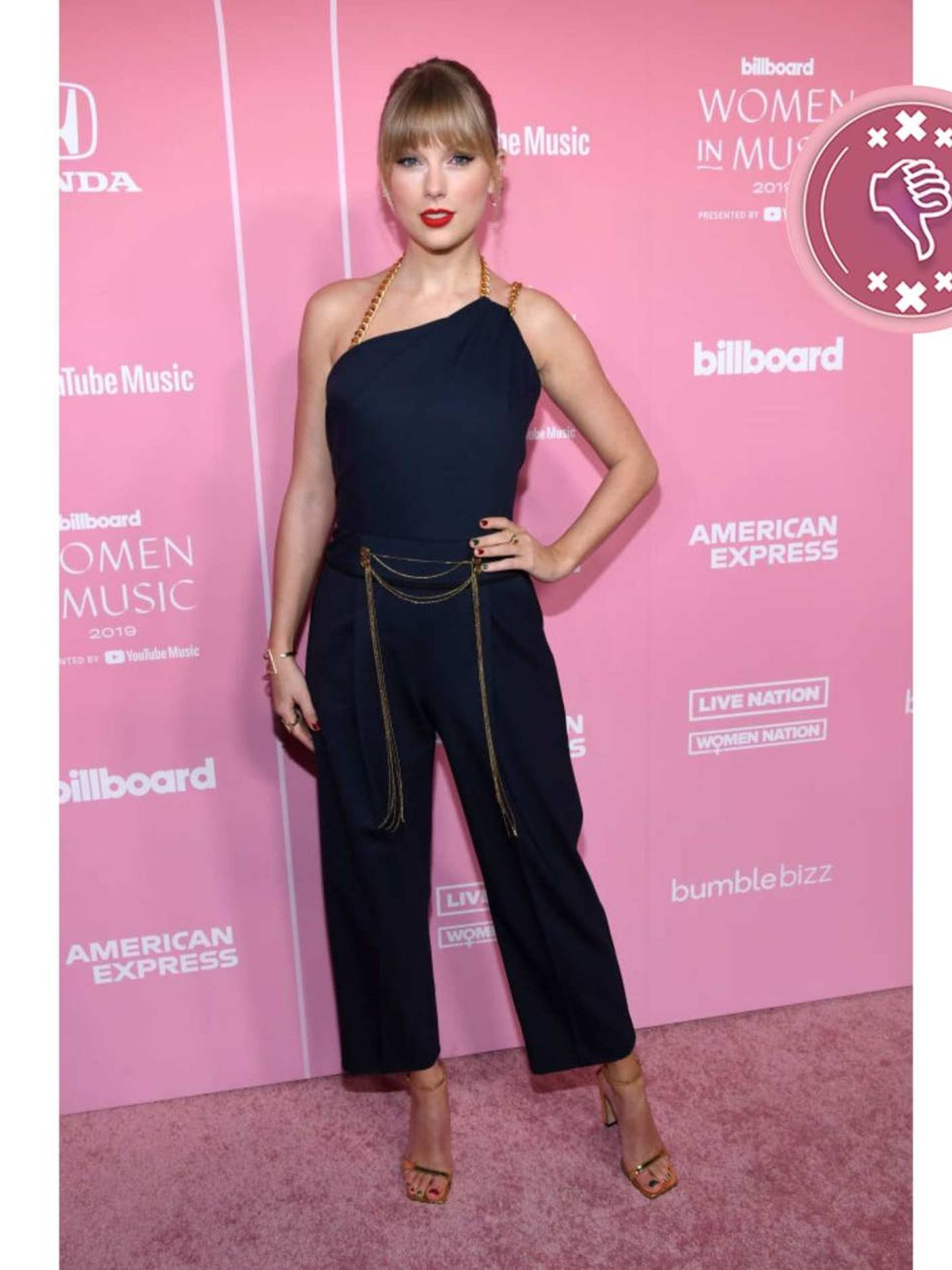Taylor Swift, en los Premios Billboard 2019. (Getty)