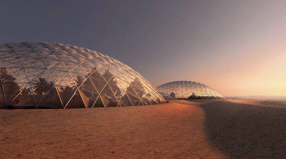 Foto: Así es como el Gobierno de Dubái planea que sea la ciudad marciana. (Dubái)