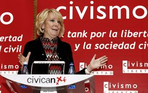 """Esperanza Aguirre carga contra el """"mangoneo"""" de Arenas en el PP andaluz"""