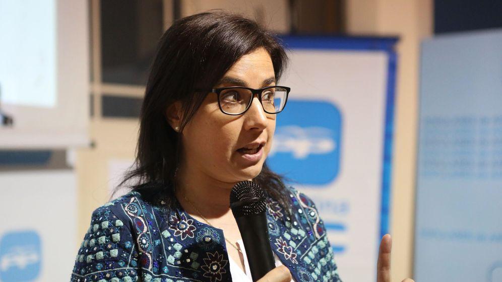 Foto: La secretaria ejecutiva de Emigración del Partido Popular (PP) y cabeza de lista por Ourense (Galicia), Ana Belén Vázquez. (EFE)