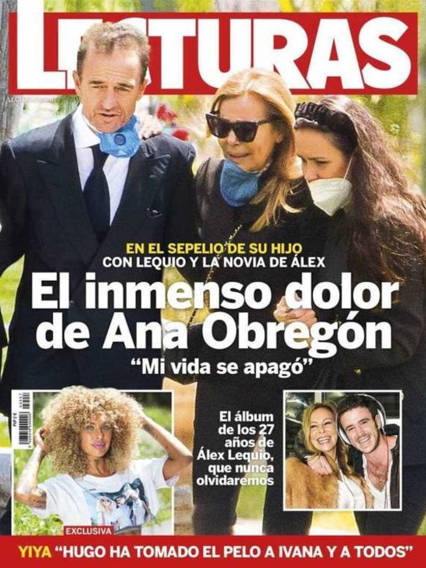 Portada de 'Lecturas' con Monje, Ana Obregón y Alessandro Lequio.