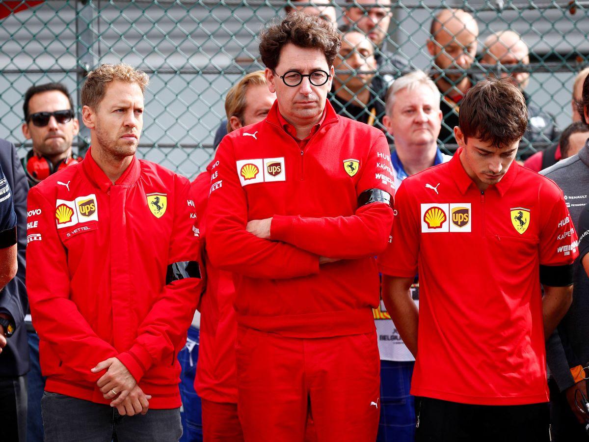 Foto: El Gp 70 Aniversario ha profundizado el bache de Vettel con Ferrari (REUTERS)