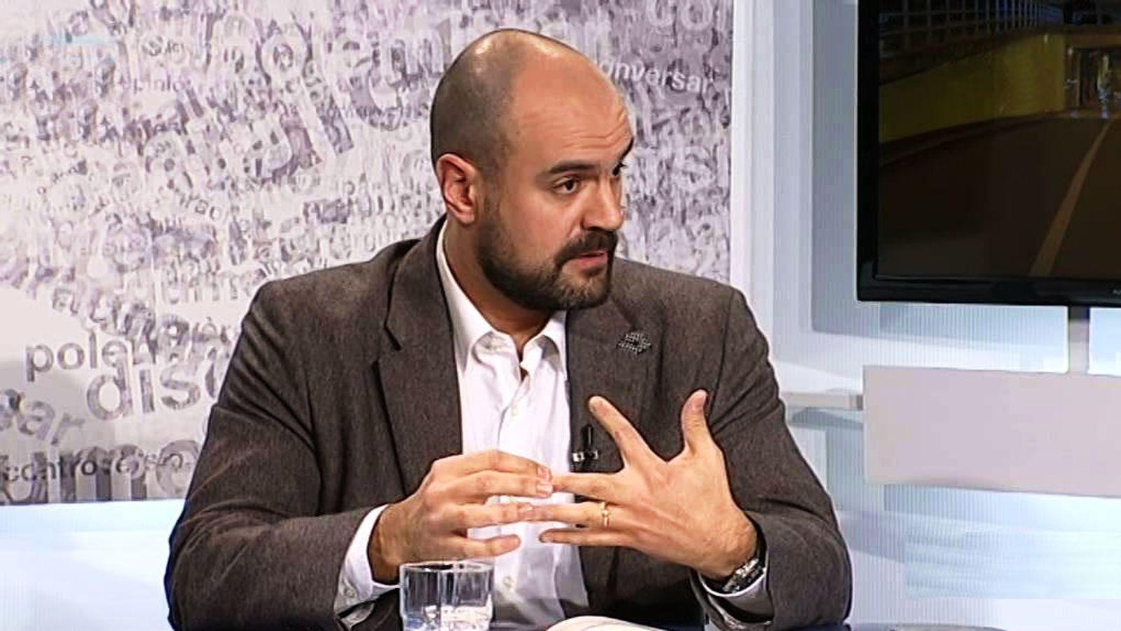 Foto: Juan Arza, en una entrevista en televisión.