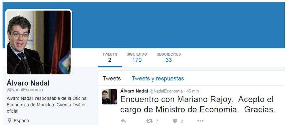 Foto: Pantallazo de la falsa cuenta de Twitter.