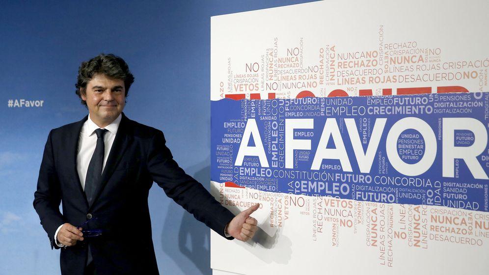 Foto: Moragas presenta la campaña electoral del PP (Efe)