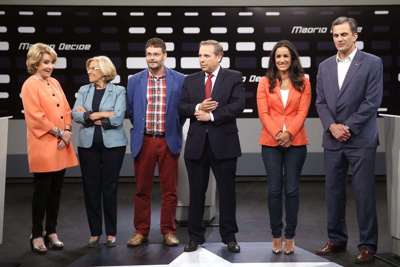Esperanza Aguirre, Manuela Carmena, Daniel Morcillo, Antonio Miguel Carmona, Begoña Villacís y Javier Ortega-Smith (EFE)