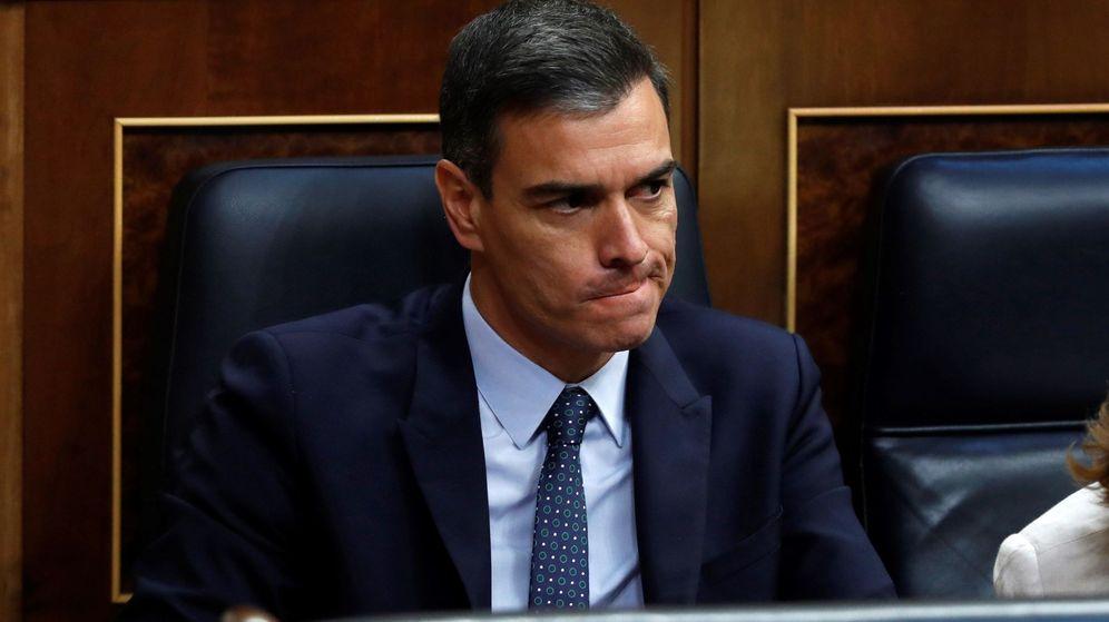 Foto: Pedro Sánchez, tras el debate de investidura. (EFE)