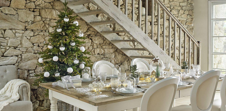 Foto: Una Navidad blanca, incluso en la mesa. Maisons du Monde (maisonsdumonde.com)