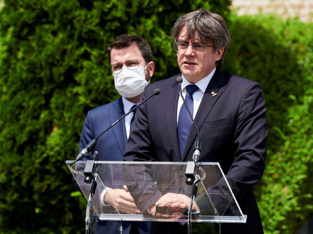Foto: El 'expresident' Carles Puigdemont, en Waterloo. (EFE)
