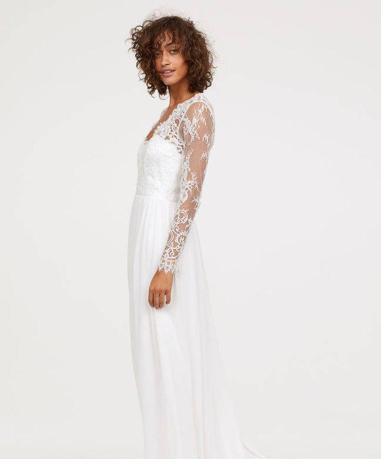 Foto: De estilo romántico, así es uno de los tres vestidos de novia que ha lanzado H&M.