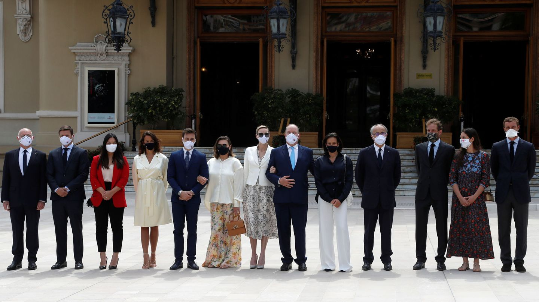 La familia real de Mónaco. (Reuters)