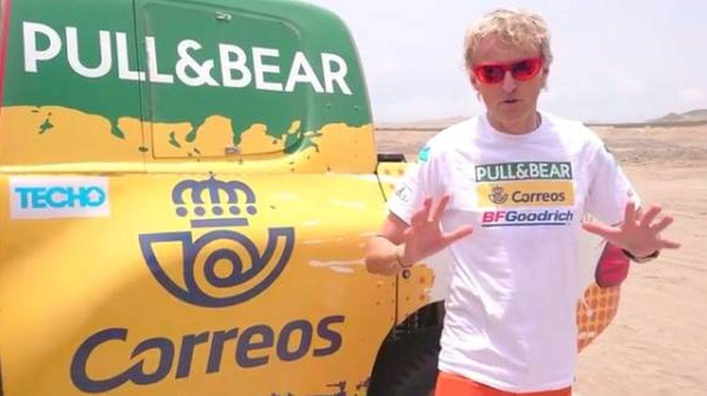 Foto: Jesús Calleja durante esta edición del Dakar.