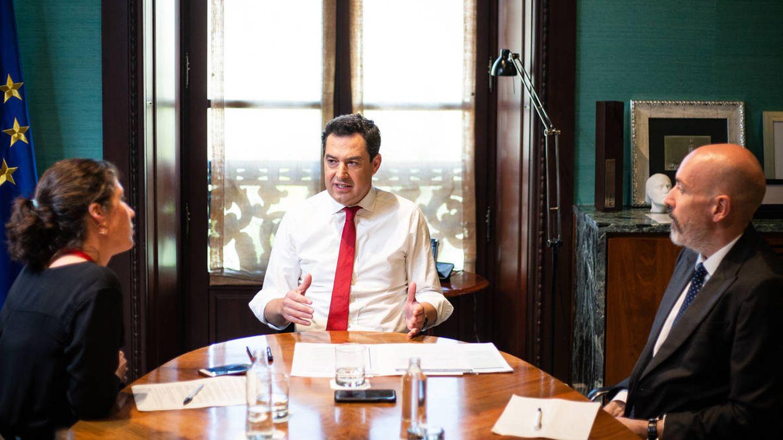 El presidente de la Junta de Andalucía, Juanma Moreno. (Fernando Ruso)