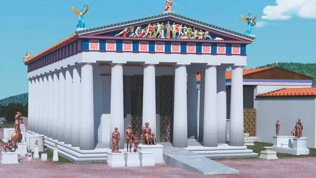 Templos De La Antigua Grecia Con Rampas Para Personas Con Discapacidad