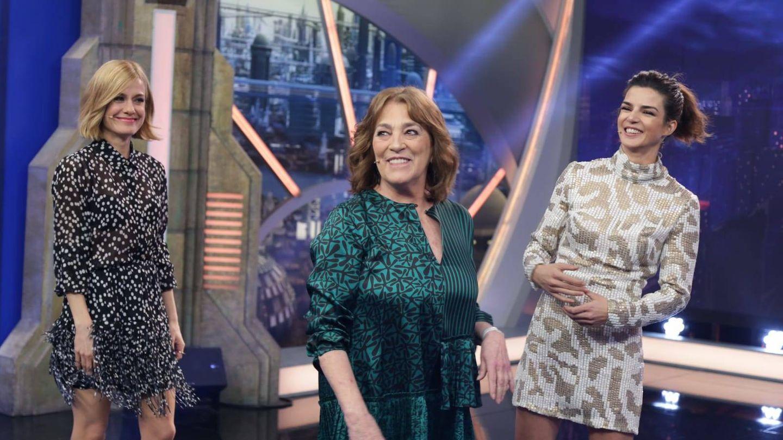 Carmen Maura, Alexandra Jiménez y Clara Lago en 'El Hormiguero'. (Atresmedia)
