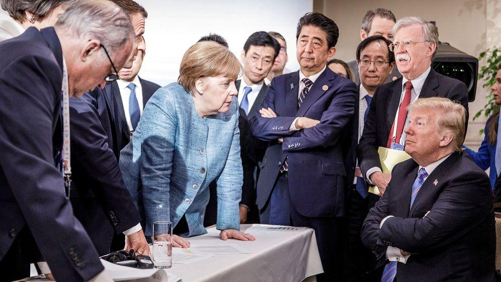 Foto: Todos ante uno, y uno para ninguno en el G7 (REUTERS)