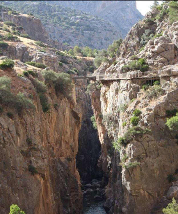Foto: El Caminito del Rey atraviesa el desfiladero de los Gaitanes