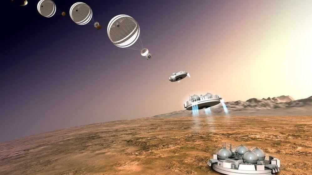 Foto: Ilustración del aterrizaje marciano del módulo Schiaparelli