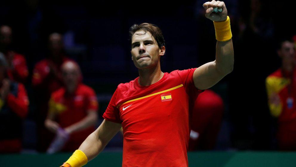 El 'servicio' perfecto de Rafa Nadal y el billete de España a los cuartos de la Davis