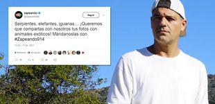 Post de La reprimenda de Frank a 'Zapeando' por pedir fotos con 'animales esclavos'