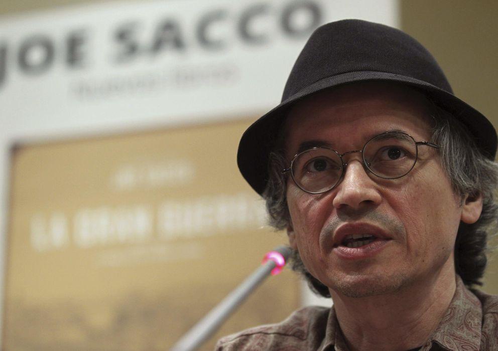 Foto: Joe Sacco, en la Asociación de la Prensa de Madrid. (EFE)