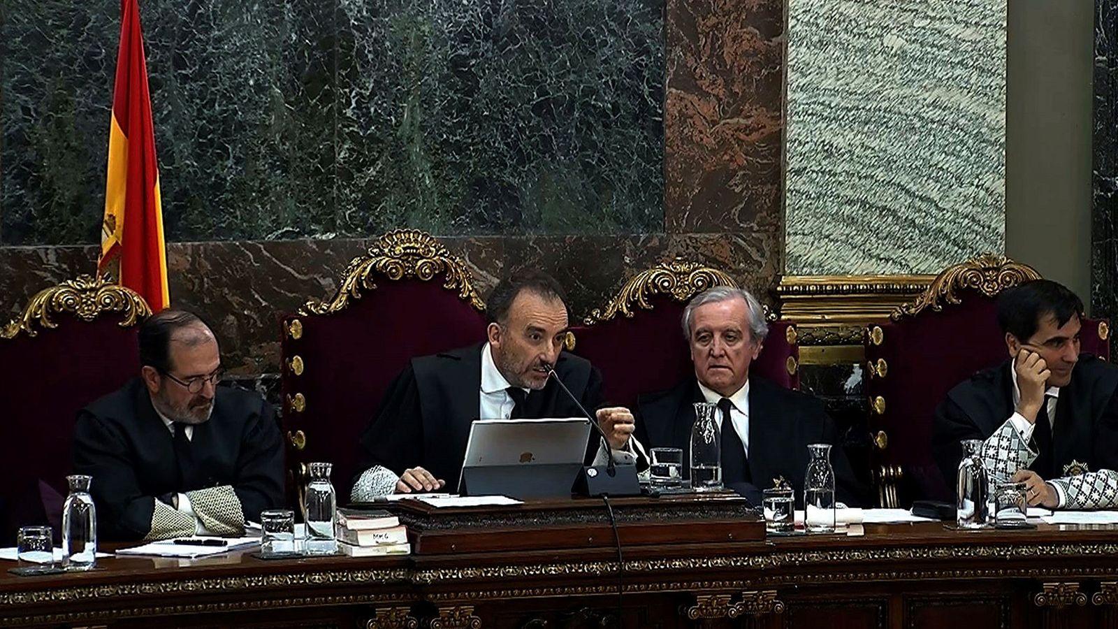 Foto: Imagen tomada de la señal de video institucional del Tribunal Supremo, del presidente del tribunal, Manuel Marchena. (EFE)