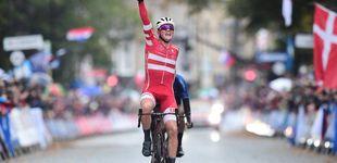 Post de Pedersen, campeón del mundo de ciclismo por sorpresa (y sin Valverde por hipotermia)