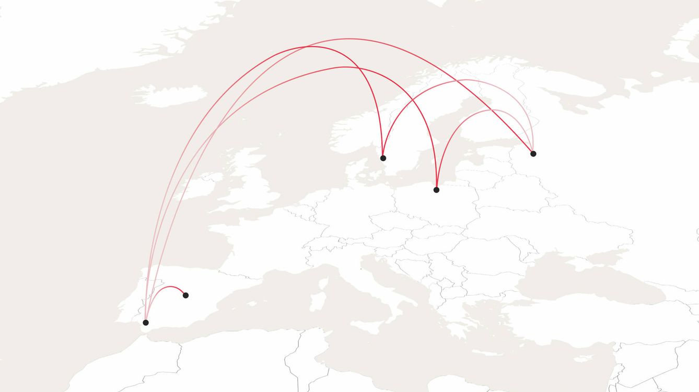 Un viaje de 114.950 kilómetros para ganar la Euro: un formato desconcertante en datos