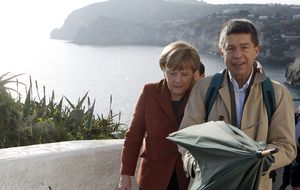 Frau Merkel y su huidizo marido