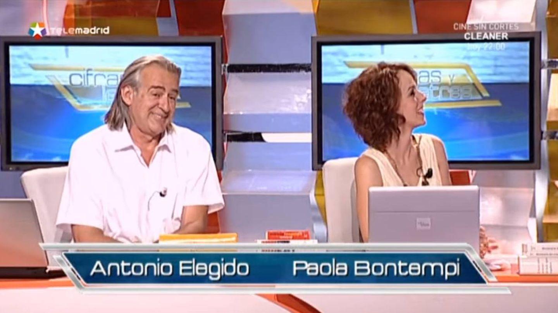 Antonio Elegido y Paola Bontempi, profesores de 'Cifras y letras'. (Telemadrid)