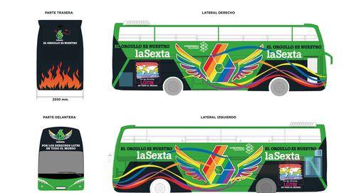 La Sexta desvela el set y su autobús para la manifestación del Orgullo Gay