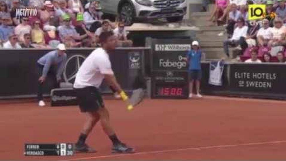 Un nazi irrumpe en un partido de tenis entre Ferrer y Verdasco