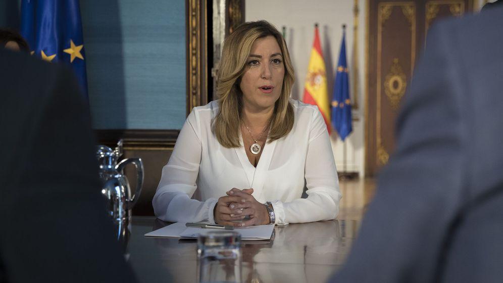 Foto: Susana Díaz en el Palacio de San Telmo en Sevilla. (EFE)