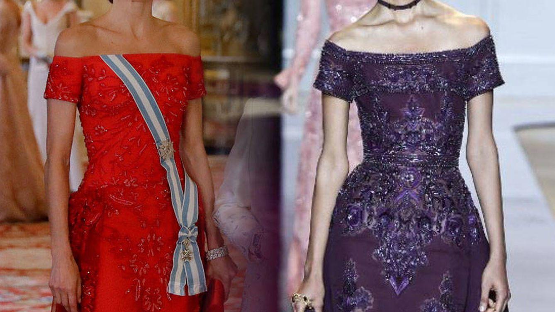El sospechoso parecido del vestido de gala de Letizia con uno de Zuhair Murad Couture