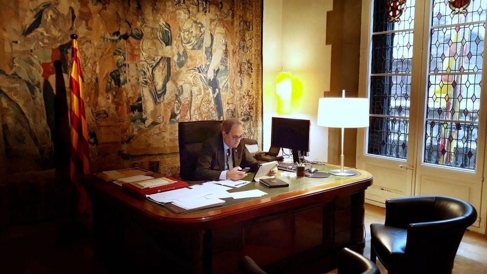 Foto: Fotografía facilitada por la Generalitat de su presidente, Quim Torra