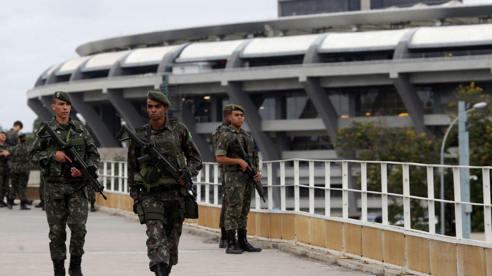 Foto: El dispositivo de seguridad en Maracaná (Reuters)