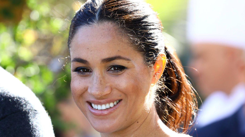 El cabello encrespado de Meghan Markle durante el embarazo. (Getty)