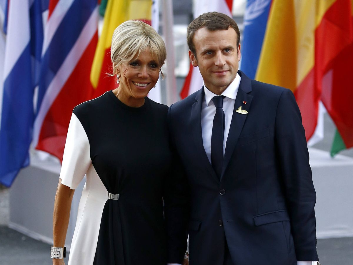 Foto:  Brigitte y Emmanuel Macron. (Getty)